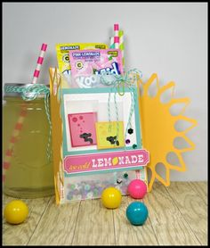 Summer Lovin' lemonade - Scrapbook.com - Make our own card with drink packet and straw holder!