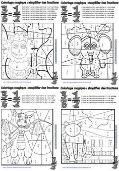 Coloriages magiques de fractions