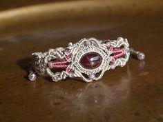 garnet bracelet, star garnet