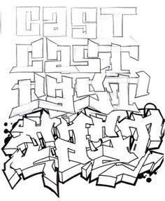 how to create a 3D graffiti alphabet with sktsa