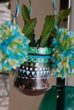 plant holders, gel pen, glass air, air plant