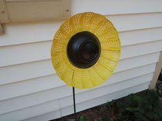 Veggie Steamer Turned Garden Sunflower Light :: Hometalk