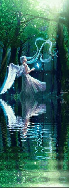 Green Angel Reflection.  Repinned by An Angel's Touch, LLC, d/b/a WCF Commercial Green Cleaning Co., Denver's Property Cleaning Specialists. http://angelsgreencleaning.net