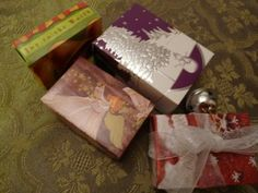 How to make small gift boxes out of Christmas Cards (buy them after Christmas at 75% off!!!)