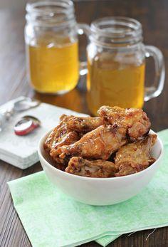 Baked Honey Chopotle Chicken Wings from @CookieMonsterCooking