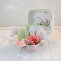 The 36th AVENUE | 20 Extraordinary Easter Projects...shabby chic easter gift
