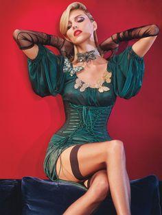 Secrets In Lace Red Bullet Bra in W Magazine September issue! #bulletbra #secretsinlace