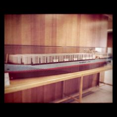 Giant LEGO scale model in the Maersk HQ.