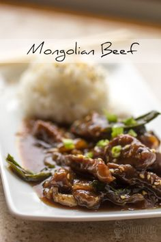 Mongolian Beef {This was almost the PERFECT take-out at home meal. Turned out amazing!}