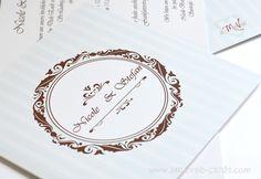 Inviti Matrimonio stile Vintage Vintage Hochzeitseinladung  Aquamarine und Braun Farben Color verde acqua e caffè  #wedding #card #Original #idea #Romantic #Vintage #Hochzeitseinladung #originelle #Einladung  #Invito #Matrimonio #Partecipazione #Nozze #Idea  #Idee #Hochzeitsideen