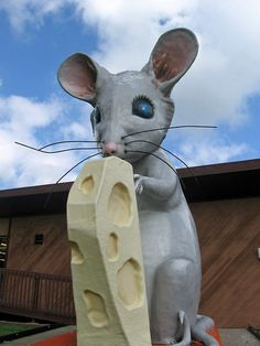 """Igor the Mouse, Fennimore, Wisconsin    Igor, a local cheese company's mascot, is the cover image of the book """"Oddball Wisconsin."""""""