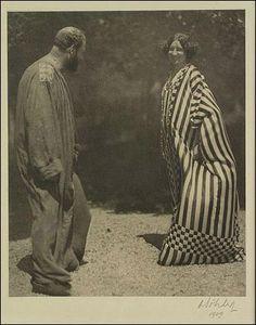 """Emilie Flöge and Gustav Klimt"" (c.1905) Photo by Moritz Nähr"