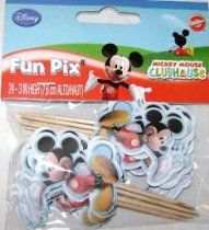 Mickey Mouse Cake or Cupcake Toppers (24 Pack)