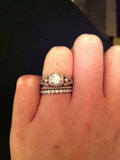 Vintage engagement ring. Perfection.