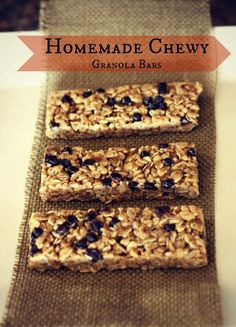 No Bake Homemade Chewy Granola Bars - Use real ingredients like honey, coconut oil, oats, ground flax seeds, and crunchy peanut butter!