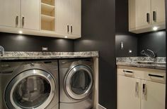 High-end laundry room