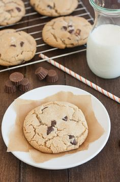 Salted Chocolate Chip Peanut Butter Cup Cookies