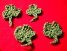 Crochet Shamrock and Four Leaf Clover - free crochet pattern