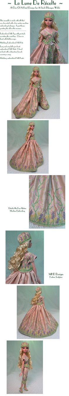 """Harvest Moon"" design by MHD for Ellowyne Wilde doll"