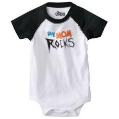 Circo® Newborn Boys My Mom Rocks Bodysuit - Ebony.