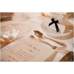Personalized & Monogram Embossed Pearlized Menus for all guests at Jefferson Hotel