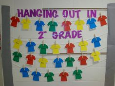 Back to school bulletin board. Have kids decorate their t-shirt during beg of the year conference.