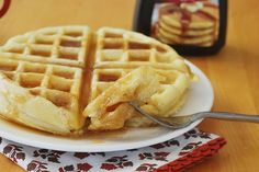 Oatmeal Waffles by fakeginger, via Flickr.  I made these mostly whole wheat, they were delicious.