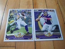 CHRISTIAN PONDER KYLE RUDOLPH 2013 Topps Minnesota Vikings (2) Card Lot Mint NFL