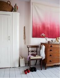 DIY Dorm Room Decorating Ideas: Blending Funk and Functionality. That hanging ombre thing to cover up living room wall?