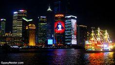 Shanghai's nighttime skyline! See more: www.gypsynester.c...