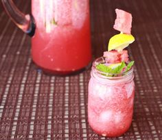 Watermelon and Mint Agua Fresca