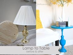Lamp to Table Makeover