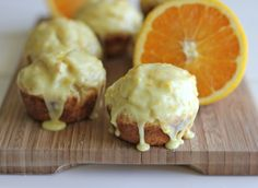 Orange Sour Cream Muffins with Zesty Orange Glaze