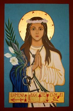 St. Philomena Icon - She is the patron Saint of Babies, Children and is know as the Wonder Worker.