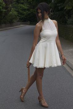 Romantic Cream Dress.