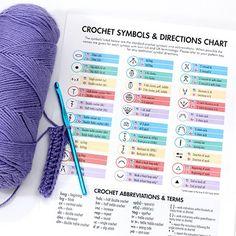 Helpful Crochet Symbols & Directions Chart