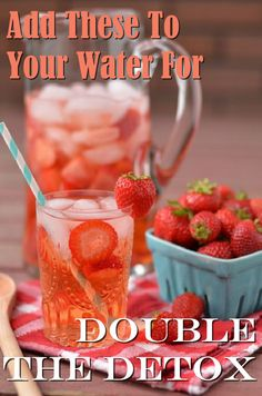 Detox Waters! Double the detox with these simple ingredients!  #detox #water #nutrition #fitness