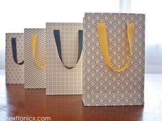 Pretty Patterned Gift Bags