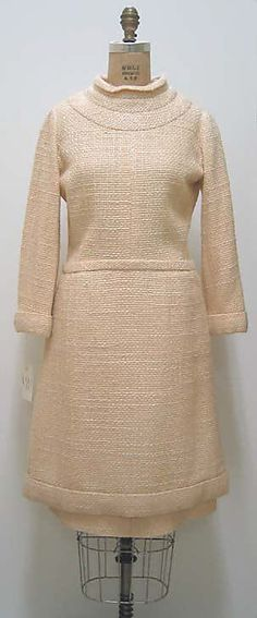 """Dress  House of Chanel (French, founded 1913)  Designer: Gabrielle """"Coco"""" Chanel (French, Saumur 1883–1971 Paris) Date: 1960s Culture: French Medium: wool"""