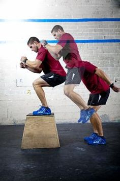 #Crossfit - Box jump in motion