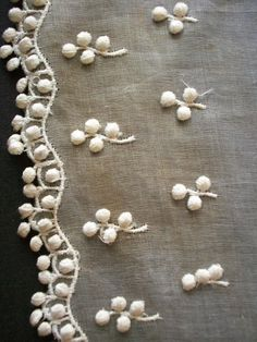 sample embroidery on organdy