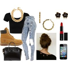 """Timberland Outfit"" created on polyvore"