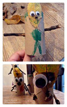 A Fun #Fall Leaf Craft - Play Dr. Mom at B-InspiredMama.com - #kids #kidscraft