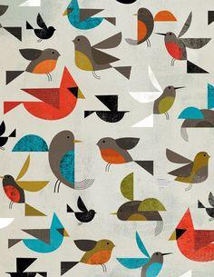 birds - Dante Terzigni illustration charley harper, graphic, pattern, art, dant terzigni, birds, illustr, print, design