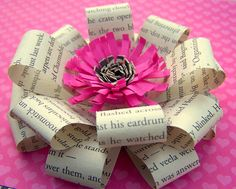 DIY- How To Make a Loopy Paper Flowers / Bow / Gift - some great examples here!