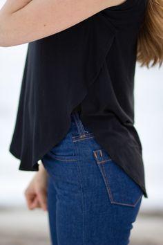 C: Side split top tutorial diy shirt, curl, t shirts