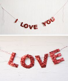 DIY: I Love You Garland