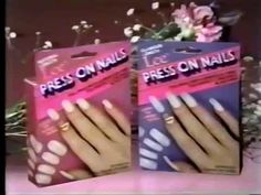 Lee Press-On Nails ad, 1985 Spot for the popular beauty accessory...press on!