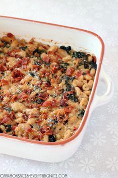 health food, fun food, white bean, chicken spinach lentils, bacon, bean gratin, cinnamon spice, blog, bean recipes main dish