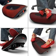 Wobble Active Footrest: Ergonomic, stylish and fun. Perfect for all of us who cannot sit still at work!